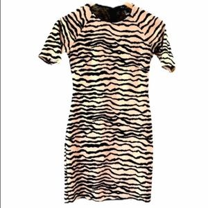 🍁 FOREVER21 Mini Dress Bodycon Tiger print XS
